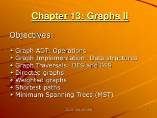 Chapter 13: Graphs II