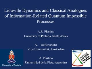 Liouville Dynamics and Classical Analogues of Information-Related Quantum Impossible Processes