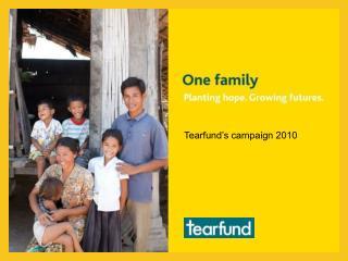 Tearfund's campaign 2010
