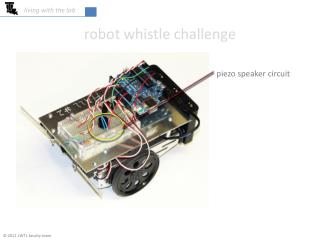 Robot whistle challenge