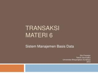 Transaksi Materi  6