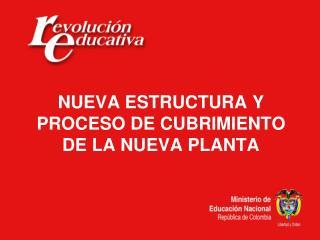 NUEVA ESTRUCTURA Y PROCESO DE CUBRIMIENTO DE LA NUEVA PLANTA