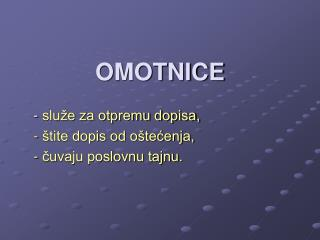 OMOTNICE