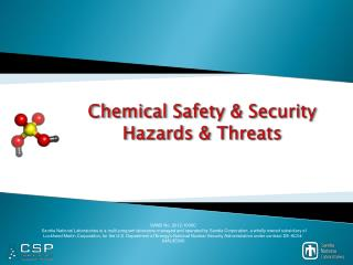 Chemical Safety & Security Hazards & Threats