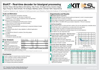 BioKIT  - Real-time decoder for  biosignal  processing