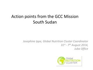 Action points from the GCC Mission South Sudan