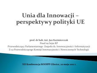 prof. dr hab. inż. Jan Kaźmierczak Poseł na Sejm RP
