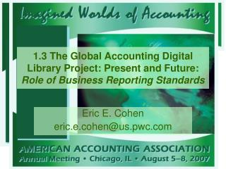 Eric E. Cohen eric.e.cohen@us.pwc
