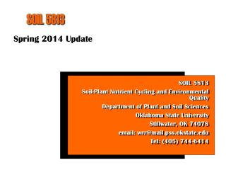 Spring 2014 Update