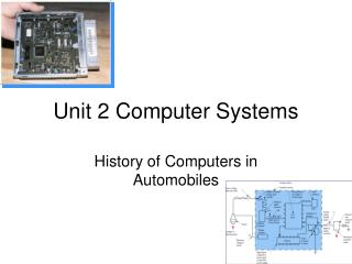 Unit 2 Computer Systems
