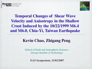Kevin Chao, Zhigang Peng