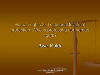 Human rights 2-  Traditional levels of protection: Who is protecting our human rights?