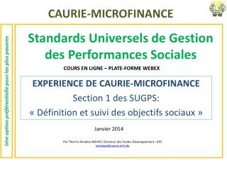 Standards Universels de Gestion des Performances Sociales
