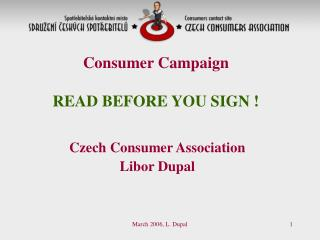 Consumer Campaign  READ BEFORE YOU SIGN !