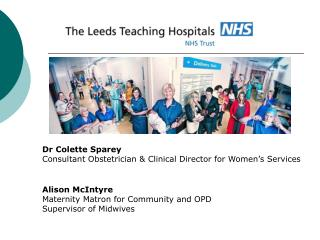 Dr Colette Sparey Consultant Obstetrician & Clinical Director for Women's Services