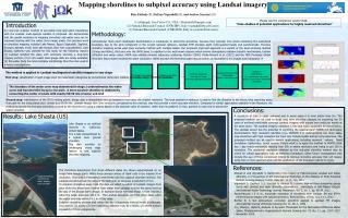 Mapping shorelines to subpixel accuracy using Landsat imagery