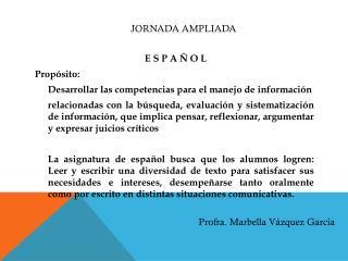Jornada AMPLIADA