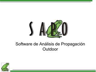 Software de An lisis de Propagaci n Outdoor