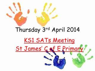 Thursday 3 rd  April 2014