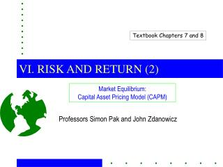 VI. RISK AND RETURN (2)