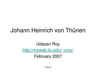 Johann Heinrich von Th nen