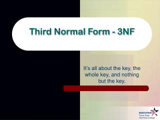Third Normal Form - 3NF