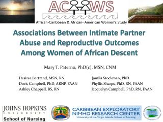 African-Caribbean &  African-  American Women's Study