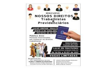 Nossos Direitos Trabalhistas e Previdenciários