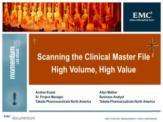 Scanning the Clinical Master File High Volume, High Value