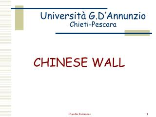 Università G.D'Annunzio Chieti-Pescara