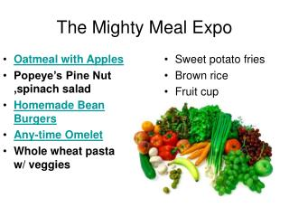 The Mighty Meal Expo