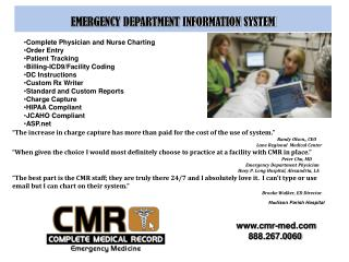 EMERGENCY DEPARTMENT INFORMATION SYSTEM