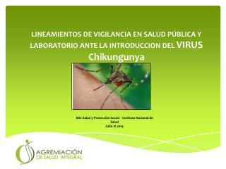 Min Salud y Protección Social  - Instituto Nacional de Salud Julio 16 2014