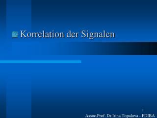 Korrelation der Signalen