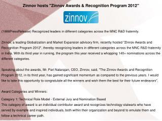 Zinnov hosts