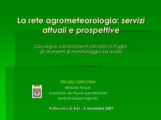 Politecnico di Bari  - 5 novembre 2007