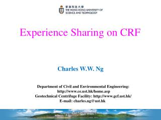 Experience Sharing on CRF