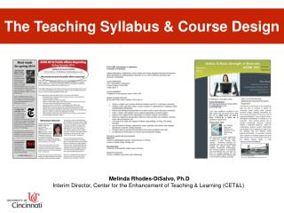 The Teaching Syllabus & Course Design