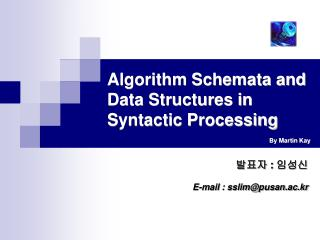 Algorithm Schemata and Data Structures in Syntactic Processing