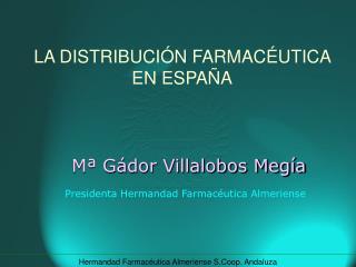 M� G�dor Villalobos Meg�a Presidenta Hermandad Farmac�utica Almeriense