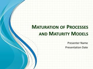 Maturation of Processes and Maturity Models