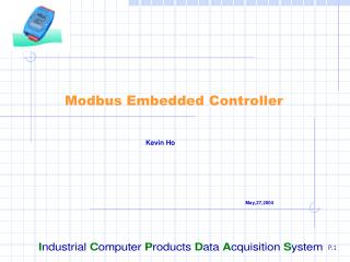 Modbus Embedded Controller