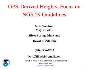 GPS-Derived Heights, Focus on NGS 59 Guidelines