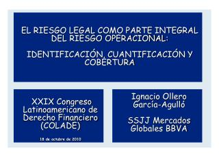 Ignacio Ollero García-Agulló SSJJ Mercados Globales BBVA