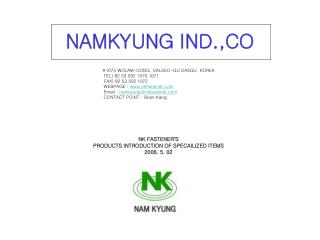 NAMKYUNG IND.,CO