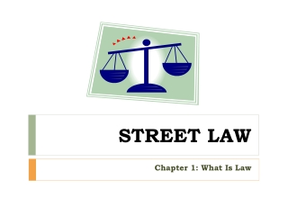 Chapter 1 Basics of the Law