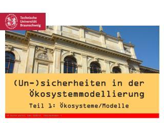W. Durner und S.C. Iden, SS2012.   Unsicherheiten - 1