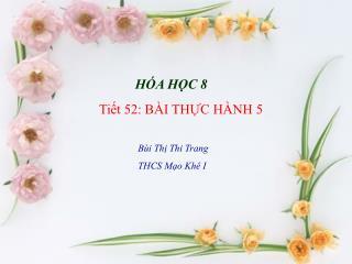 Ti?t 52: B�I TH?C H�NH 5