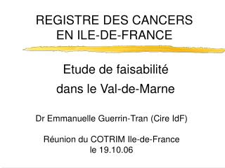 Etude de faisabilité  dans le Val-de-Marne