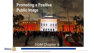Promoting a Positive Public Image